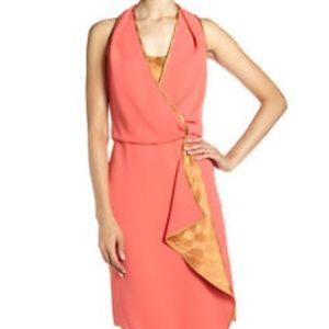 Rachel Roy Zinnia Coral Gold Cascade Dress